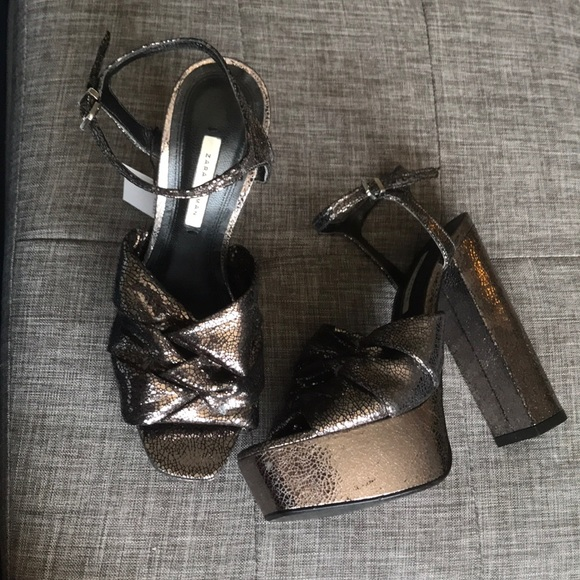 Zara Platform Chunky Heels